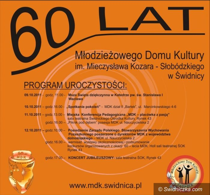 Świdnica: 60–lecie Młodzieżowego Domu Kultury