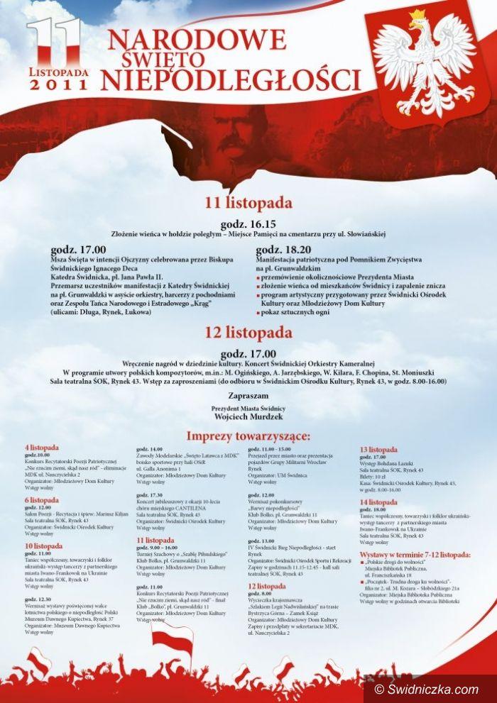 Świdnica: Święto Niepodległości z flagami i kotylionami
