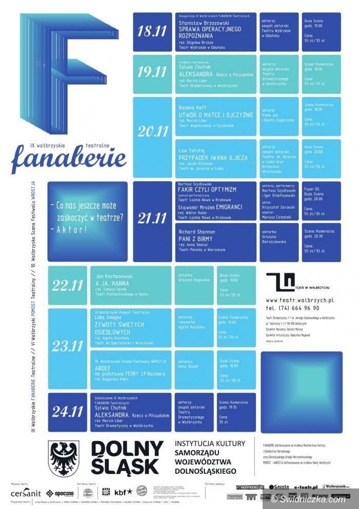 Wałbrzych: Fanaberie Teatralne już od piątku Wałbrzychu