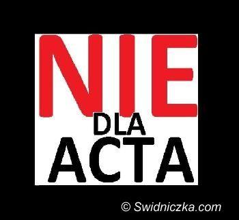 Świdnica: Zamanifestują przeciwko ACTA
