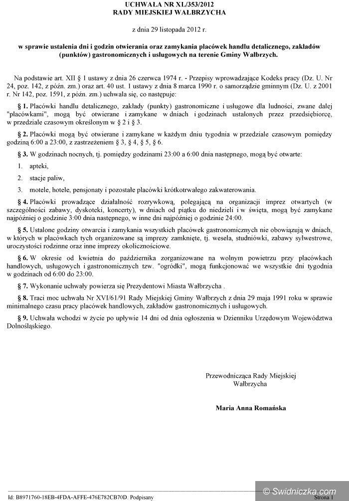 Wałbrzych: Prohibicja po wałbrzysku (aktualizacja 17:33)