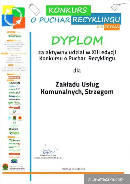 Strzegom/Kraj: ZUK w Strzegomiu wśród najlepszych w Pucharze Recyklingu 2012