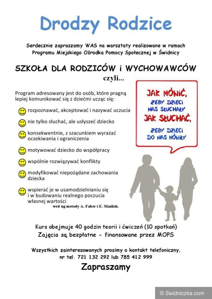 Świdnica: Świdnica ma Szkołę dla Rodziców i Wychowawców