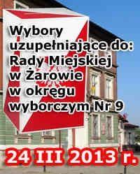 Żarów: Wybory uzupełniające do Rady Miejskiej w Żarowie