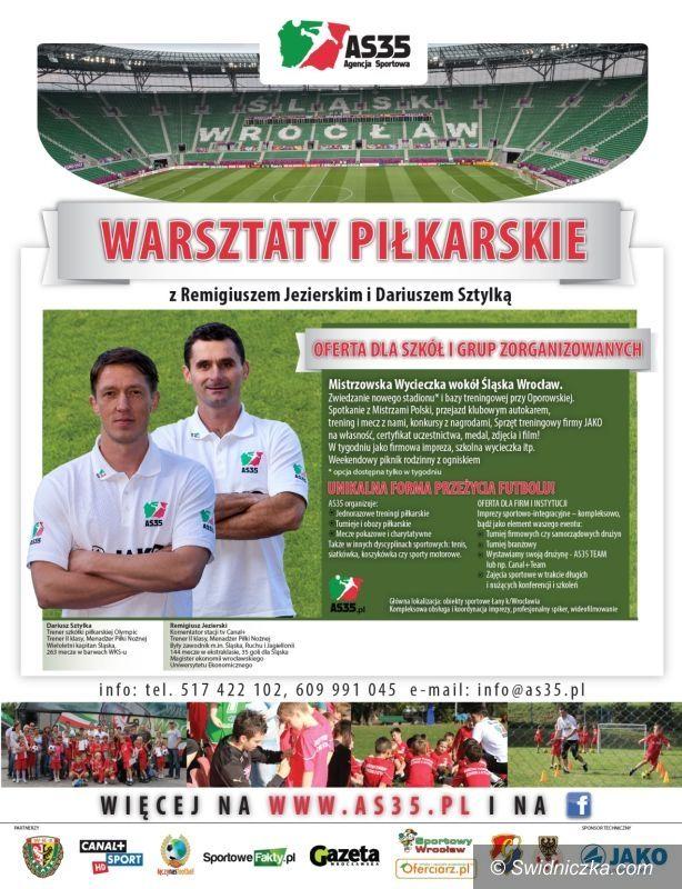 Wrocław/Świdnica: Warsztaty piłkarskie z Jezierskim i Sztylką