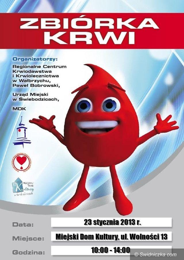 Świebodzice: Mroźna zbiórka krwi