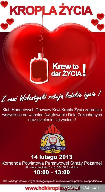 Świdnica: Uratuj życie w Walentynki