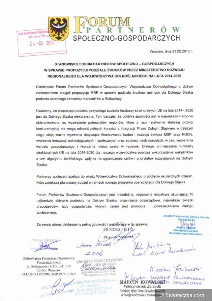 Dolny Śląsk: Walczą o zwiększenie budżetu do 2020 roku