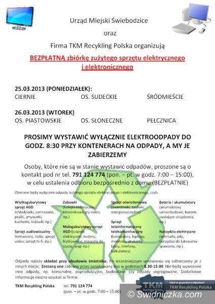 Świebodzice: Zbiórka elektrośmieci w Świebodzicach