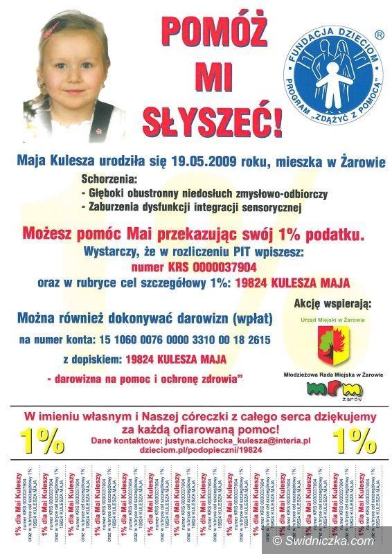 Region: 1 procent na rzecz chorej Mai Kuleszy?