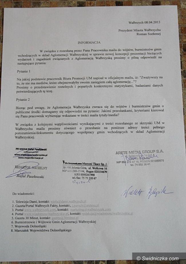 Wałbrzych: Wałbrzyskie media oczekują wyjaśnień od prezydenta Romana Szełemeja