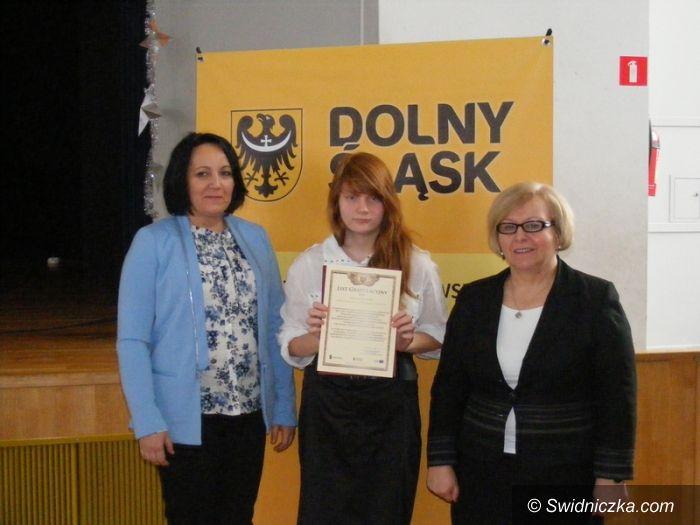 Dolny Śląsk: Stypendystka z Lutomi