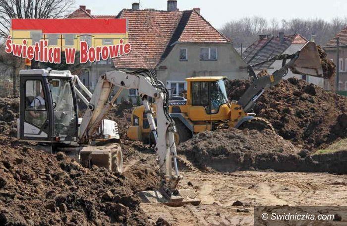 Borów: Budowa świetlicy w Borowie rozpoczęta