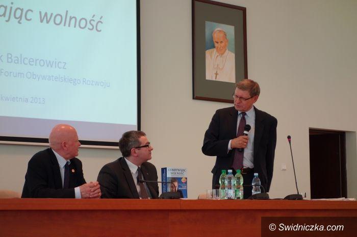 Świdnica: Spotkali się z profesorem Leszkiem Balcerowiczem