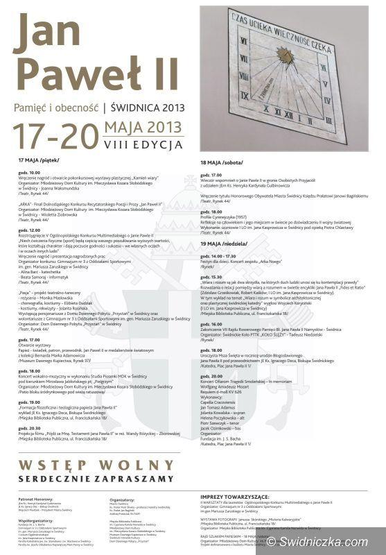 Świdnica: Dni Papieskie 2013 – aktualizacja programu