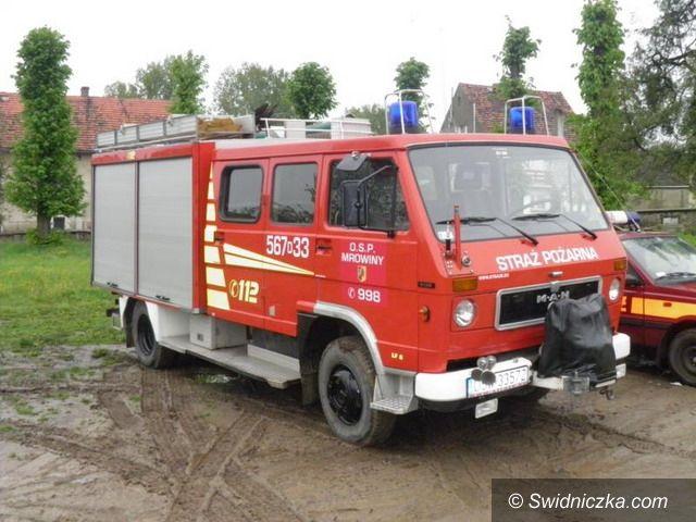 Mrowiny: Poświęcili wóz strażacki