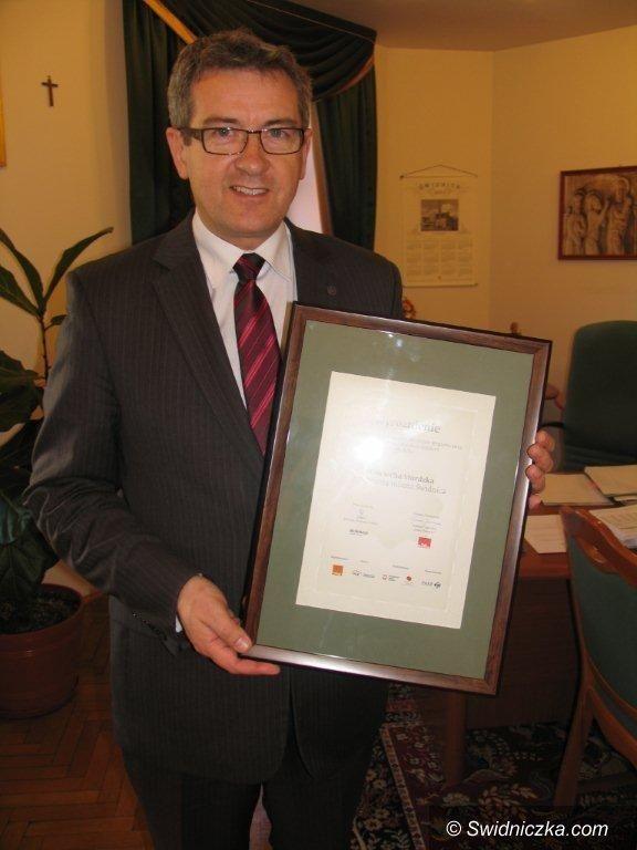 Dolny Śląsk: Prezydent Świdnicy wyróżniony