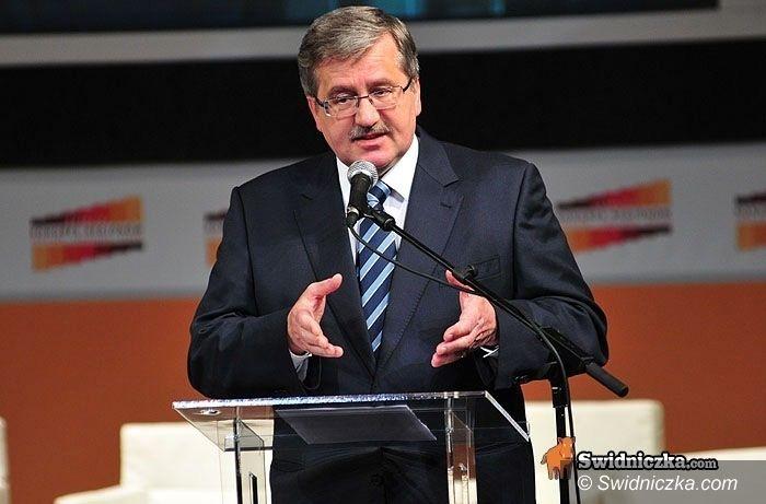Świdnica: Kongres Regionów 2013 pod patronatem Prezydenta RP