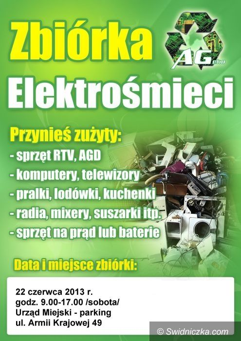 """Świdnica: Piknik ekologiczny """"Czysta Świdnica"""" i zbiórka elektrośmieci"""