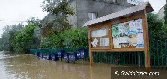 powiat świdnicki: Trwa szacowanie strat po ostatnich podtopieniach