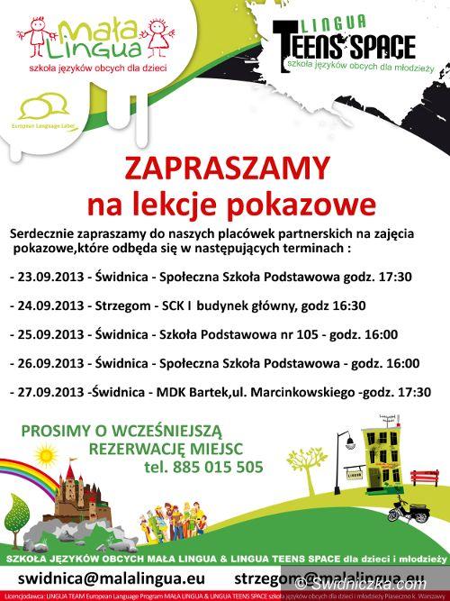 powiat świdnicki: Mała Lingua – lekcje pokazowe