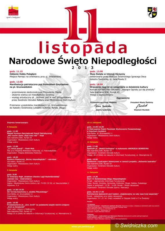 Świdnica: Święto Niepodległości w Świdnicy – szczegółowy program