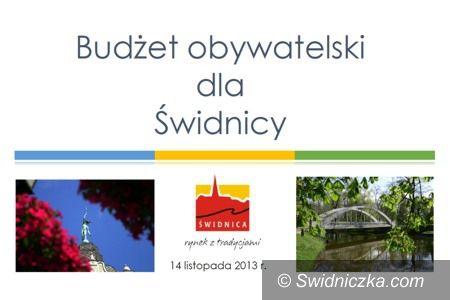 Świdnica: Na co wydać 3,5 mln zł w 2014 r.? Zadecydują mieszkańcy Świdnicy!