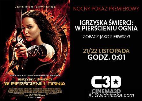 """Świdnica: Repertuar Cinema3D (22–28.11) – nocny pokaz premierowy """"Igrzysk Śmierci – W Pierścieniu Ognia"""""""