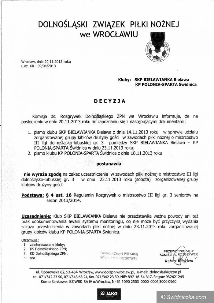 """III-liga piłkarska: Interwencja DZPN–u w sprawie """"wadliwego"""" bielawskiego monitoringu. Kibice Polonii jadą na mecz!"""