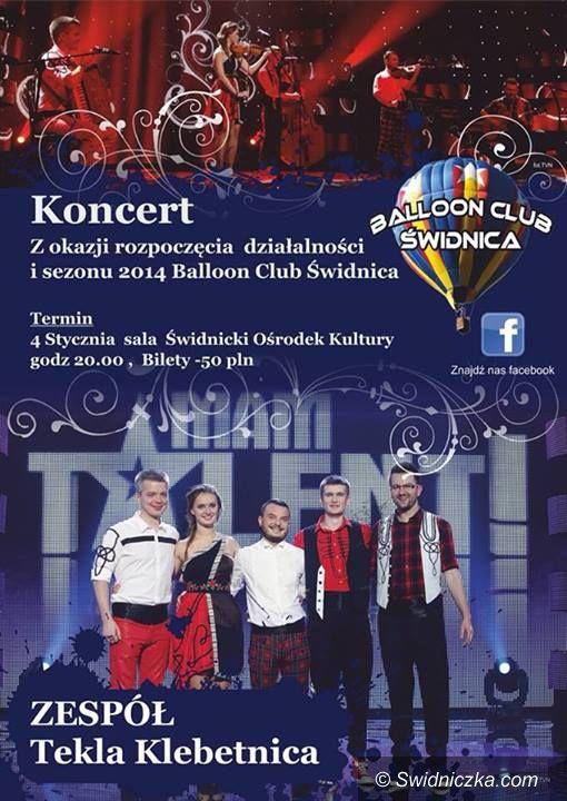 Świdnica: Baloon Club Świdnica zaprasza na koncert Tekli Klebetnicy