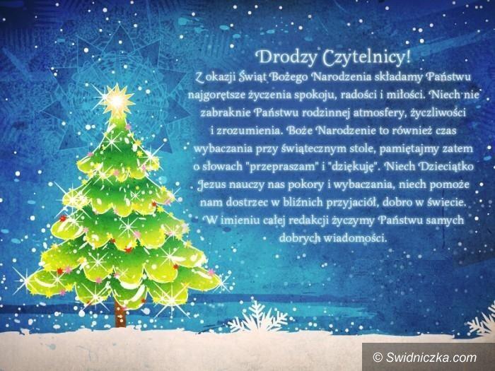 Świdnica: Radosnych Świąt Bożego Narodzenia!