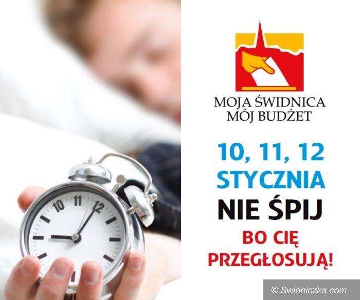 """Świdnica: """"Nie śpij, bo cię przegłosują!"""" – w piątek rusza głosowanie na budżet obywatelski"""