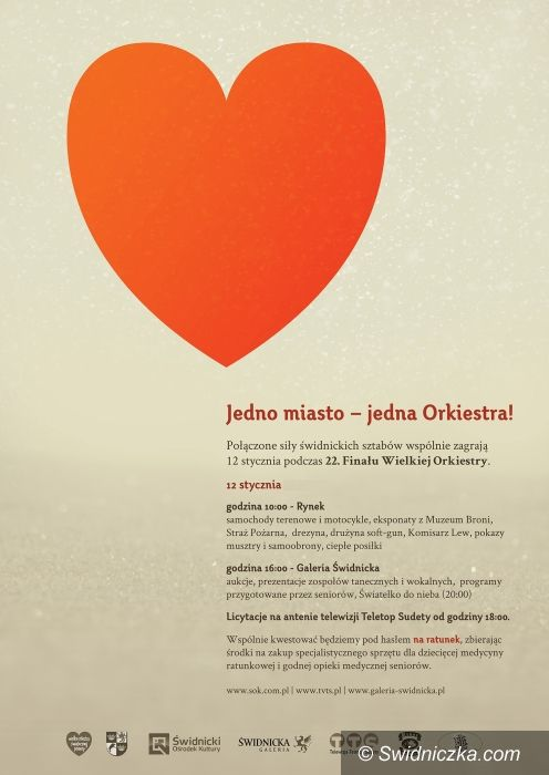 Świdnica: Wspólna Orkiestra Świątecznej Pomocy – charytatywna zbiórka rusza w niedzielę