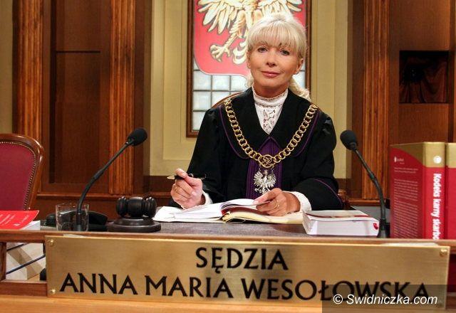 Świebodzice: Spotkanie z sędzią Anną Marią Wesołowską