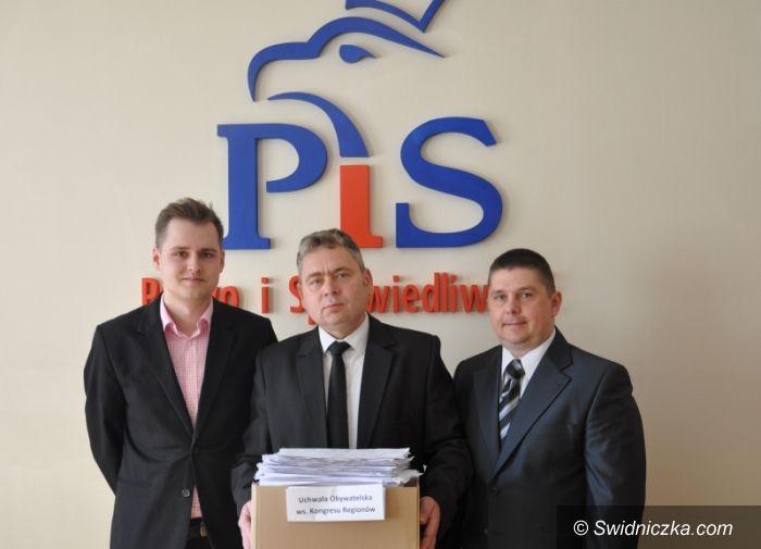Świdnica: Uchwała Obywatelska ws. Kongresu Regionów trafiła do Przewodniczącej Rady Miejskiej