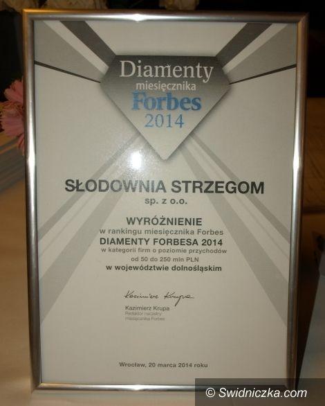 """Strzegom/Kraj: Słodownia Strzegom w gronie """"Diamentów Forbesa 2014"""""""