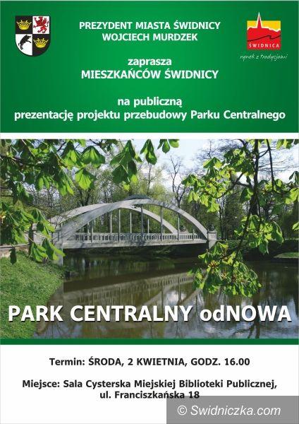 Świdnica/Trutnov: Jak będzie wyglądał Park Centralny? – prezentacja publiczna projektu