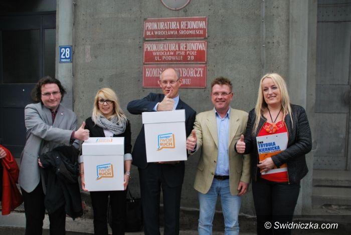 Dolny Śląsk: Ponad 20 tysięcy głosów za rejestracją listy koalicji Europa+ Twój Ruch