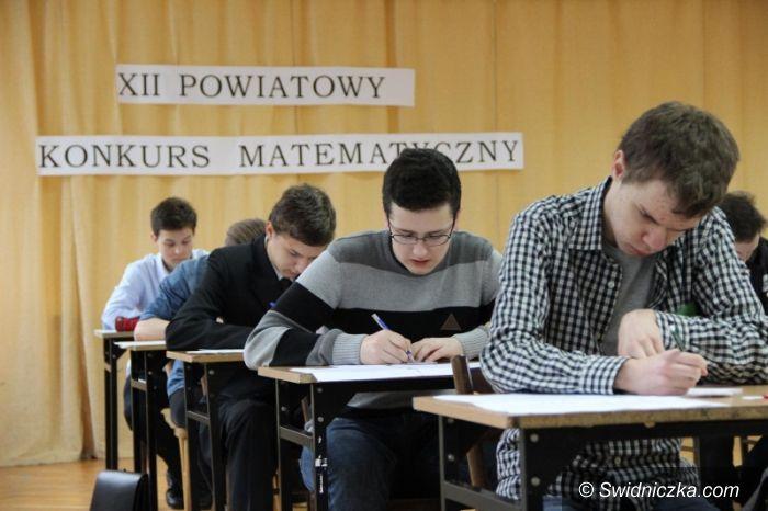 Świdnica: Konkurs matematyczny w