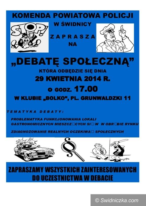 Świdnica: Policja zaprasza na debatę społeczną