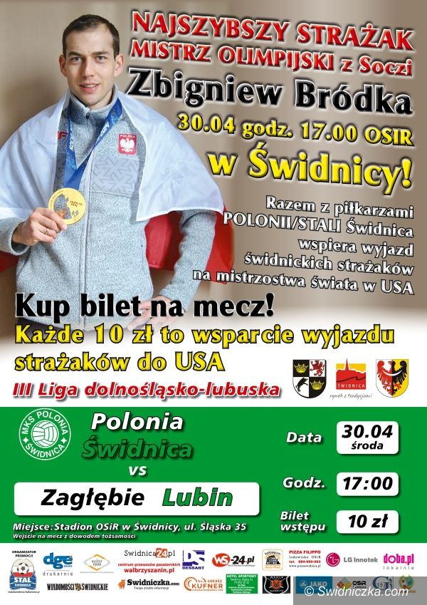Świdnica: Piłkarze na pomoc strażakom! Zbigniew Bródka w Świdnicy!