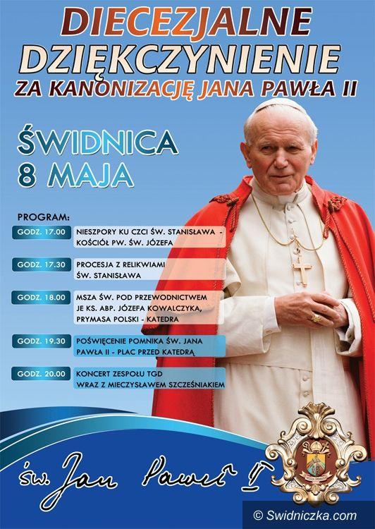 Świdnica: TGD i Mieczysław Szcześniak na odsłonięcie pomnika św. Jana Pawła II