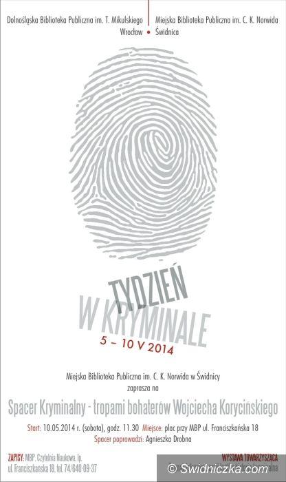"""Świdnica: """"Spacer kryminalny – tropami bohaterów Wojciecha Korycińskiego"""""""