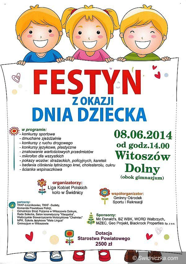 Witoszów Dolny: Festyn z okazji Dnia Dziecka w Witoszowie Dolnym