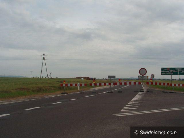 Dobromierz: Ruszyła budowa ronda w pobliżu Dobromierza