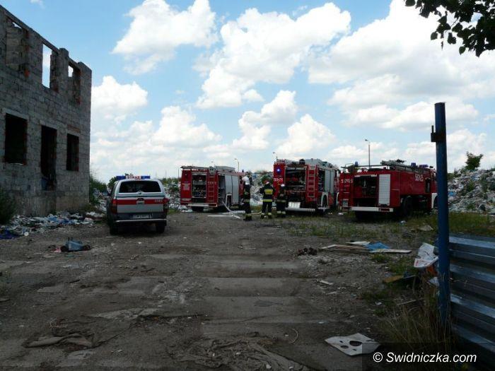 Świdnica: Groźny pożar na Zarzeczu
