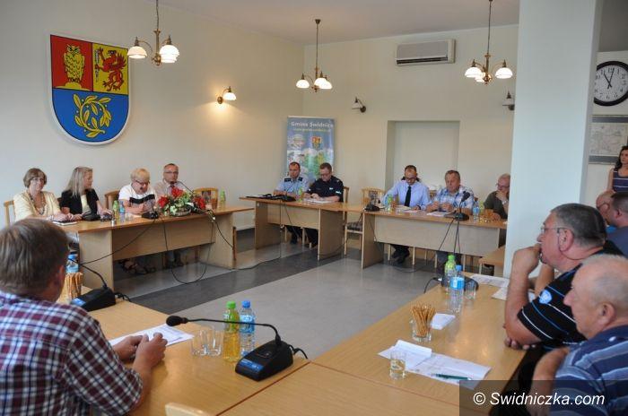 Świdnica: O bezpieczeństwie z sołtysami