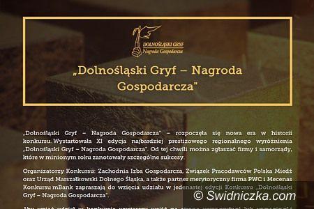"""Dolny Śląsk: Powalcz o wygraną w konkursie """"Dolnośląski Gryf – Nagroda Gospodarcza"""""""
