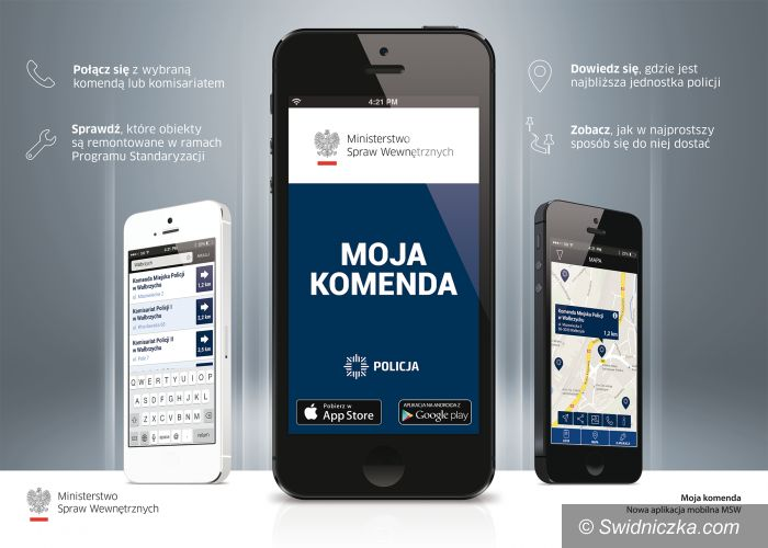 """Kraj: """"Moja komenda"""" – mobilny przewodnik po polskich jednostkach Policji"""