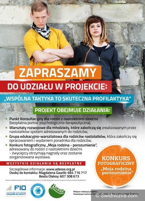 Świdnica: Warsztaty dla nastolatków i ich rodziców